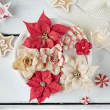 Набор цветов Сказочная зима, красный