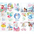 Набор карточек Акварельная зима