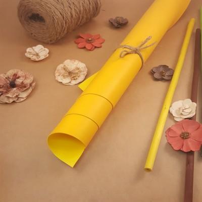 Переплётный матовый кожзам - Жёлтый