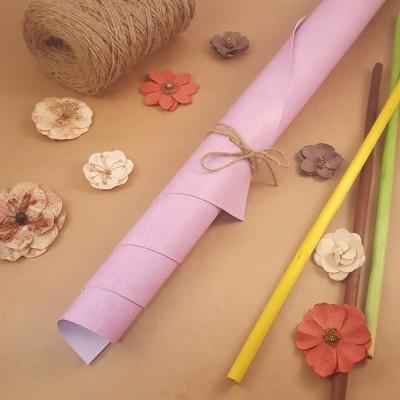 Переплётный матовый кожзам - Розово-сиреневый