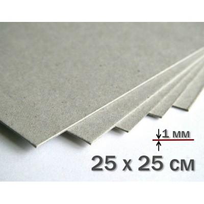 Переплетный картон 25 х 25 см 1 мм