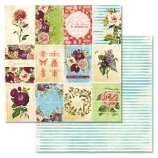 Бумага для скрапбукинга Летняя феерия - Карточки 30,5 х 30,5