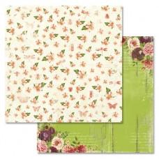 Бумага для скрапбукинга Летняя феерия - Сладкий аромат 30,5 х 30,5