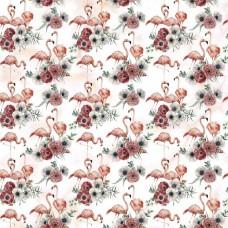 Бумага для скрапбукинга Роскошный фламинго - Вечное счастье 30,5 х 30,5