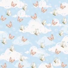 Бумага для скрапбукинга Небесное приключение - Бабочки 30,5 х 30,5