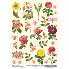 Лист для вырезания Летняя феерия - Цветы