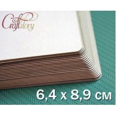 Пивной картон с закругленными углами 6,4 х 8,9 см (2,5 х 3,5 inch)