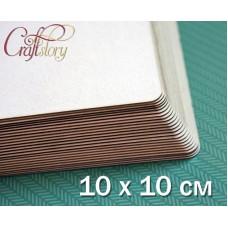 Пивной картон с закругленными углами 10 х 10 см