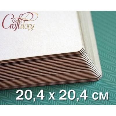 Пивной картон с закругленными углами 20,4 х 20,4 см (8 х 8 inch)