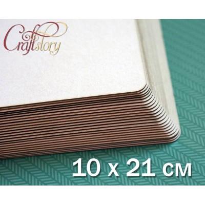 Пивной картон с закругленными углами 10х21 см