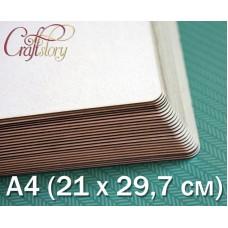 Пивной картон с закругленными углами А4