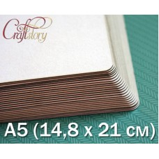 Пивной картон с закругленными углами А5