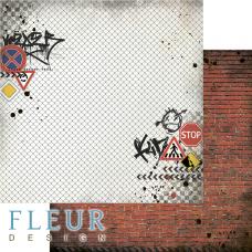 Бумаги для скрапбукинга Город контрастов - Кирпичная стена 30,5х30,5 см
