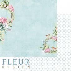 Бумаги для скрапбукинга Дыхание весны - Прохлада 30,5х30,5 см