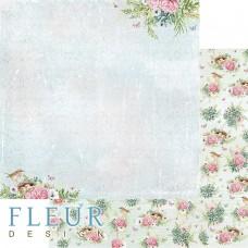 Бумаги для скрапбукинга Дыхание весны - В тени цветов 30,5х30,5 см