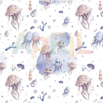 Бумага для скрапбукинга Море волнуется РАЗ! - Танец медуз 30,5 х 30,5