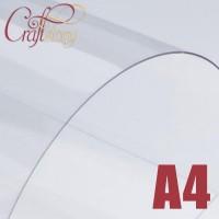 Лист пластика (прозрачный) А4 (3 шт.) 0,3 мм