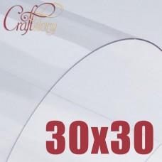 Лист пластика (прозрачный) 30х30 см (3 шт.) 0,3 мм
