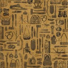 Бумага для скрапбукинга Дневник туриста. В рюкзаке 30,5 х 30,5