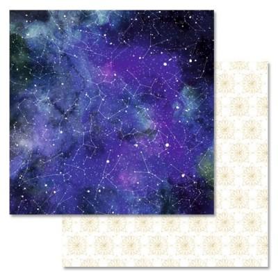 Бумага для скрапбукинга Тайны вселенной. Созвездия 30,5 х 30,5