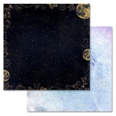 Бумага для скрапбукинга Тайны вселенной. Ночное небо 30,5 х 30,5