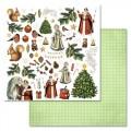 Набор бумаги Новогодний лес 30,5 на 30,5 см