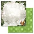 Бумага для скрапбукинга Новогодний лес. Морозное стеклышко 30,5 х 30,5