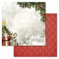 Бумага для скрапбукинга Новогодний лес. У праздничной елки 30,5 х 30,5