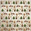 Бумага для скрапбукинга Новогодний лес. Елочные игрушки 30,5 х 30,5