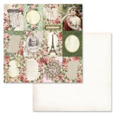 Бумага для скрапбукинга Сад герцогини. Карточки 30,5 х 30,5