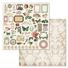 Бумага для скрапбукинга Сад герцогини. Картинки 2 30,5 х 30,5