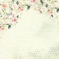 Бумага для скрапбукинга Мечты невесты. Влюбленность 30,5 х 30,5