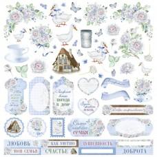 Бумага для скрапбукинга Родной дом. Картинки 30,5 х 30,5