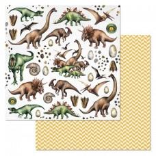 Бумага для скрапбукинга Эра динозавров. Фауна 30,5 х 30,5