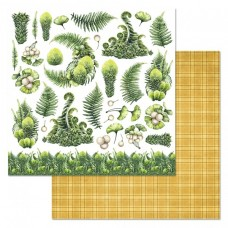 Бумага для скрапбукинга Эра динозавров. Флора 30,5 х 30,5