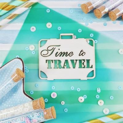 Чипборд Надпись Time to travel