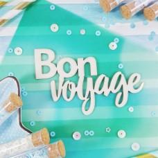 Чипборд Надпись Bon voyage