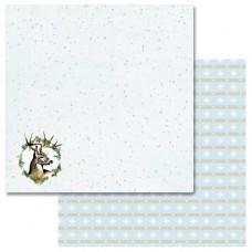 Бумага для скрапбукинга Эко-зима Снегопад 30,5 х 30,5