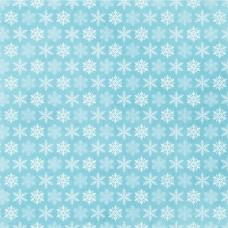 Бумага для скрапбукинга Эко-зима Снежинки 30,5 х 30,5