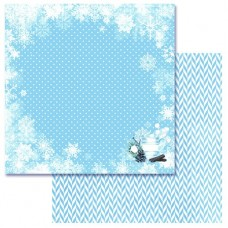 Бумага для скрапбукинга Эко-зима Снежная иллюзия 30,5 х 30,5