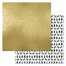 Бумага для скрапбукинга Сканди Новый Год. Узоры 30,5 х 30,5