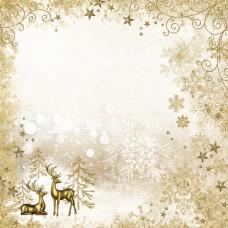 Бумага для скрапбукинга Сканди Новый Год. Золотой лес 30,5 х 30,5