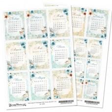 Лист для вырезания Календарь 2020. Этника детская А4
