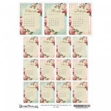Лист для вырезания Календарь 2020. Сад герцогини А4