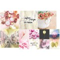 Набор карточек Pretty pink 9,5 х 9,5 и 5 х 5 см