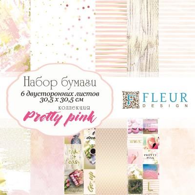 Набор бумаги Pretty pink 30,5 x 30,5 см
