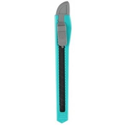 Канцелярский нож голубой маленький, 9 мм