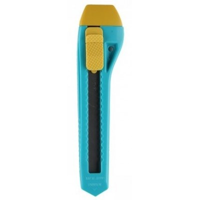Канцелярский нож голубой с автоблокировкой, 18 мм