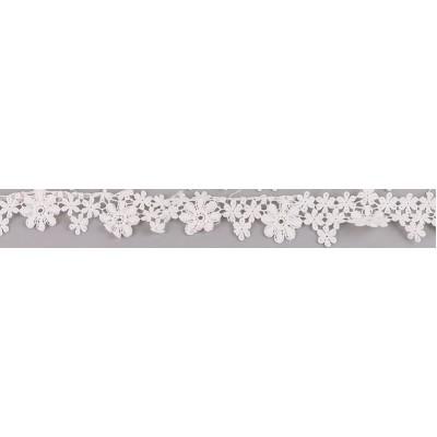 Кружево, Белые цветочки 45 см