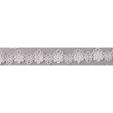 Кружево, Белая цветочная цепь 45 см